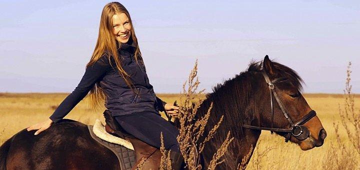 Конная прогулка или абонемент на 5 занятий по обучению верховой езде в частной конюшне «Идиллия»!