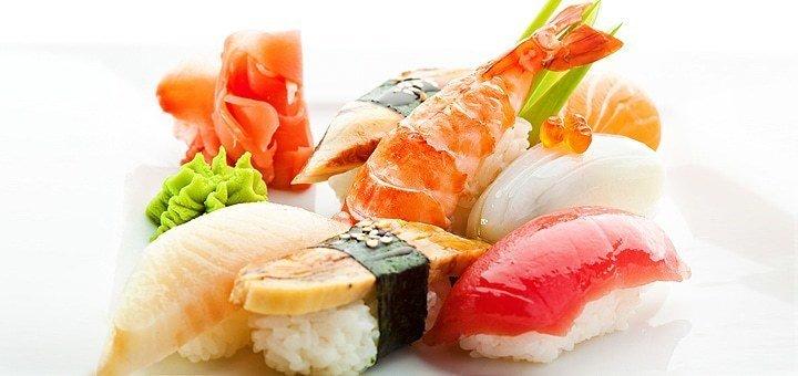 Скидка 50% на меню кухни, 30% на пиццу с доставкой и 20% на бар в сети ресторанов японской кухни «Изуми»
