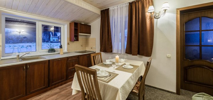 От 4 дней отдыха в апартаментах отеля «5 каминов» в Карпатах возле Буковеля