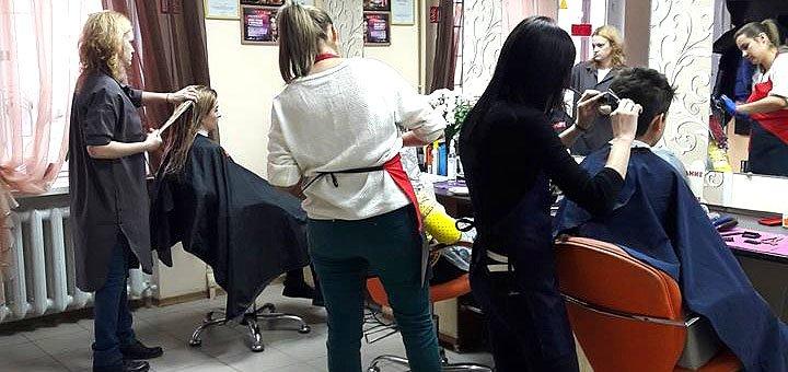 Стрижка, укладка, окрашивание волос в салоне красоты «Гармония»