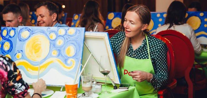 Занятия по масляной живописи «Drink and draw» в творческой студии «Безмежність»