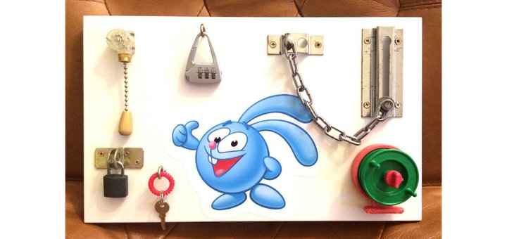 Скидка 50% на развивающую детскую игрушку БизиБорд!