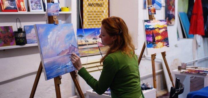 Твори! Дневной интенсив, месячный безлимит или 5, 10, 15 занятий в студии живописи «Охра»! Всего от 69 грн.!