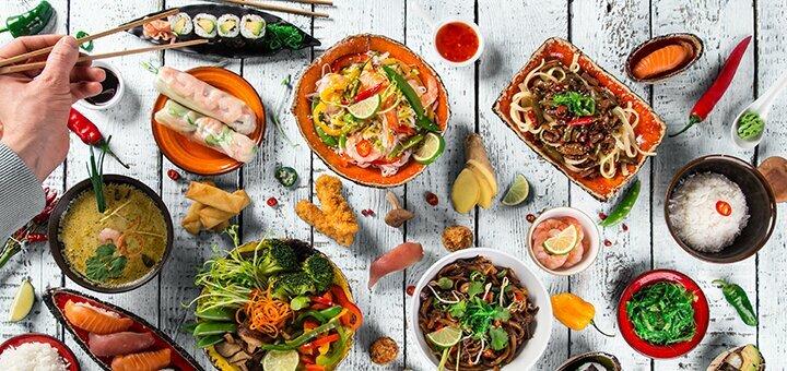 Скидка 50% на всё меню кухни, суши, WOK и бургеры на вынос в суши-баре «Panko»