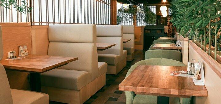 Скидка 50% на роллы, суши-ассорти и десерты в ресторане азиатской кухни «Банзай»