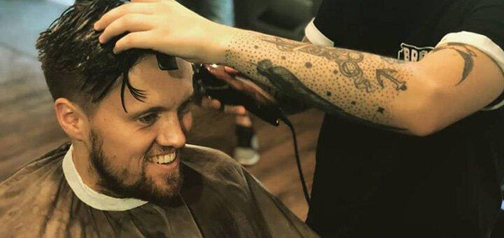 Мужская и детская стрижка с укладкой для мальчиков в «BRONE Barbershop»