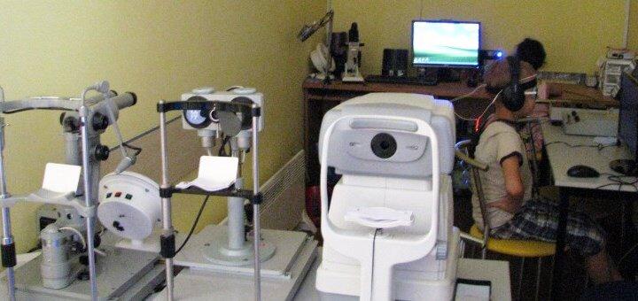 Офтальмологическое обследование или аппаратное лечение зрения в «Модна оптика» на Правды
