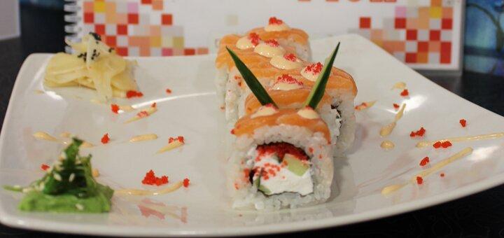 Скидка 50% на все суши, роллы и сеты в новом sushi place «Red Fish» на Победе