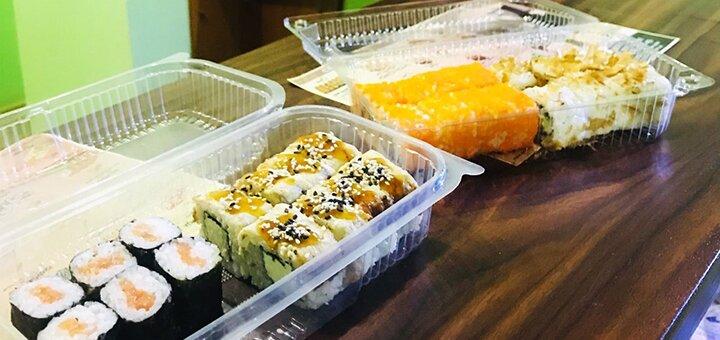 Скидка 50% на все суши, роллы и сеты в суши-баре «Beer & Sushi»