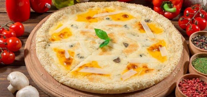 Скидка 50% на меню пиццы от службы доставки «Calypso food»
