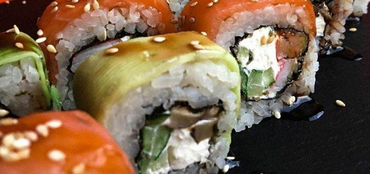 Скидка 50% на суши-сеты с доставкой или самовывозом от суши-бара «Киото»
