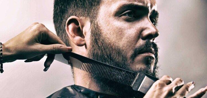 Скидка 50% на мужскую стрижку, коррекцию усов и бороды от мужского мастера Юлии Резниченко