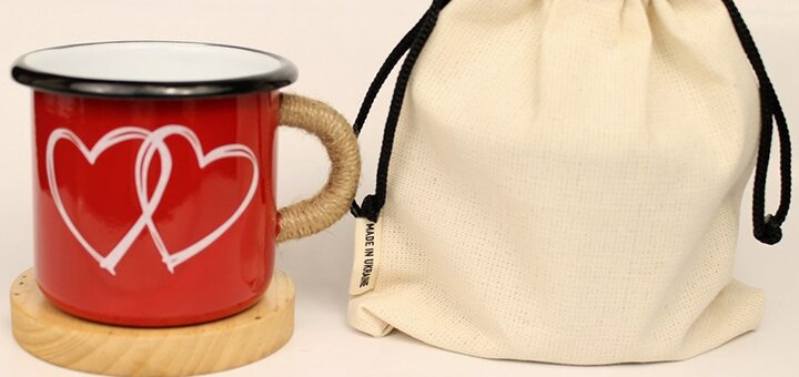 Эмалированная кружка с оригинальным принтом от интернет-магазина «Мир подарка»
