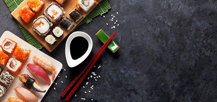 Скидка 50% на суши-сеты с доставкой или самовывозом от службы доставки еды «MyPizza»