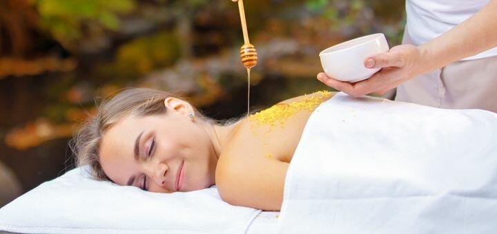 До 7 сеансов медового массажа спины и ног в массажном кабинете «Гармония-бьюти»