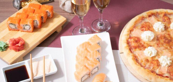 Скидка 50% на меню кухни, суши-бар и пиццу в семейном ресторане «Mafia» на Тимошенко