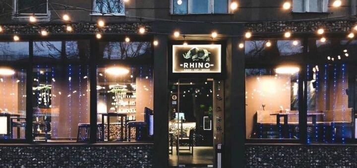 Скидка 50% на меню кухни в ресторане-кальянной «Rhino»